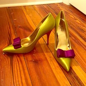 Kate Spade Satin Heels with Bow